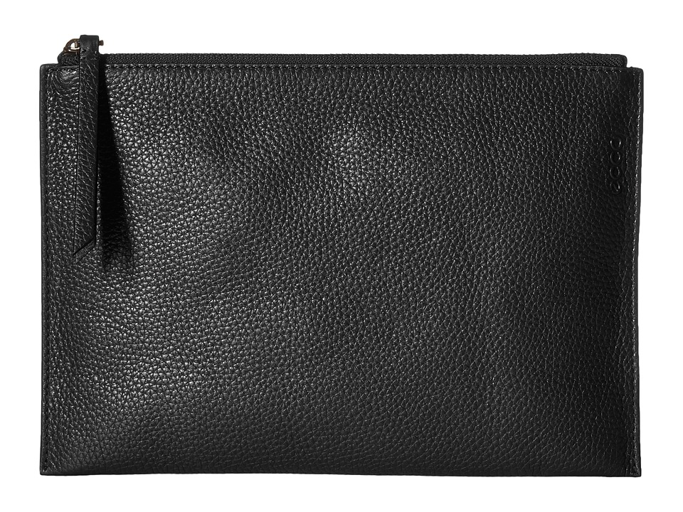 ECCO - Sculptured Clutch (Black) Clutch Handbags