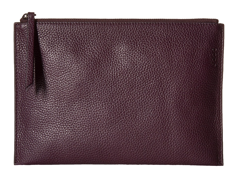ECCO - Sculptured Clutch (Mauve) Clutch Handbags