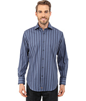 Thomas Dean & Co. - Long Sleeve Woven Soft Twill w/ Stripe