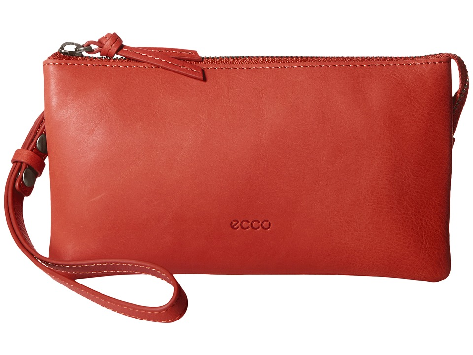 ECCO - Handa Clutch Wallet (Tomato Red) Wallet Handbags