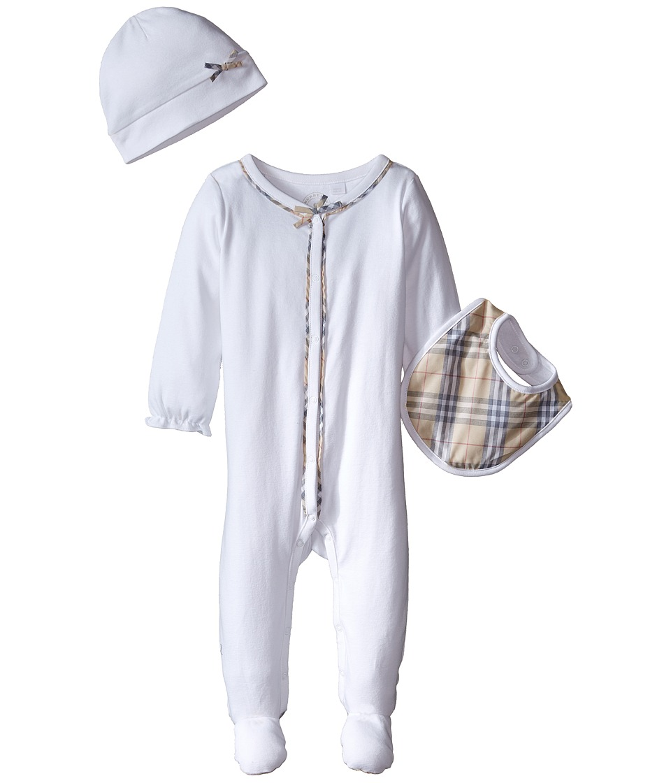 Burberry Kids - Jacey Set (Infant/Toddler) (White) Kids Jumpsuit & Rompers One Piece