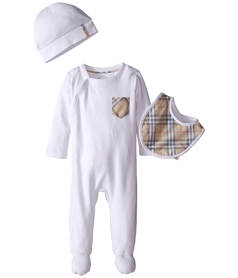 Burberry Kids - Jaydin Set (Infant/Toddler) (White) Kids Jumpsuit & Rompers One Piece