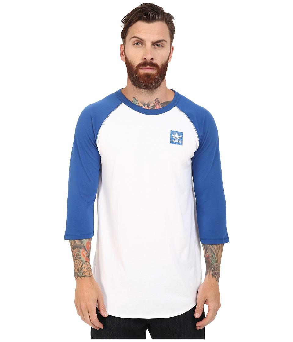 adidas Skateboarding - Shiburi 3/4 Raglan Top (White/EQT Blue) Men