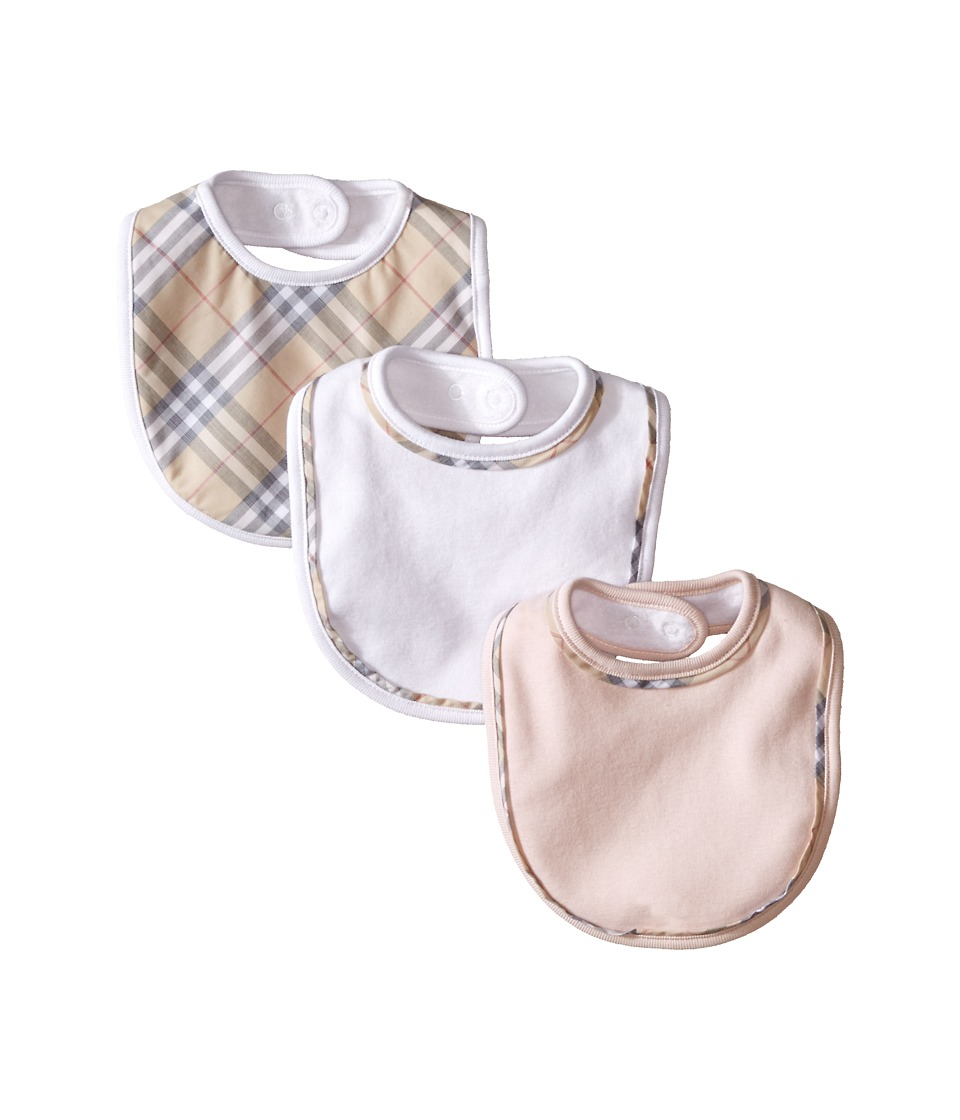 Burberry Kids Bib Set Infant/Toddler Powder Pink Accessories Travel