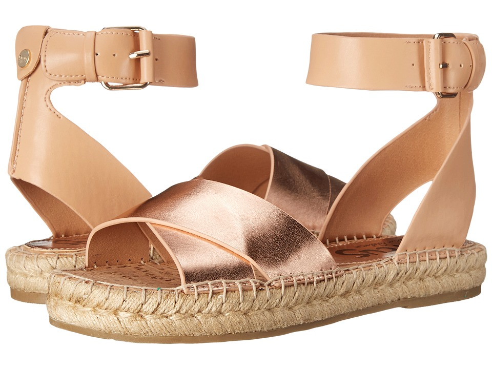 Circus by Sam Edelman Amber Apricot/Naked Natural Womens Sandals