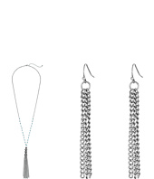 M&F Western - Chain Tassel Necklace/Earrings Set