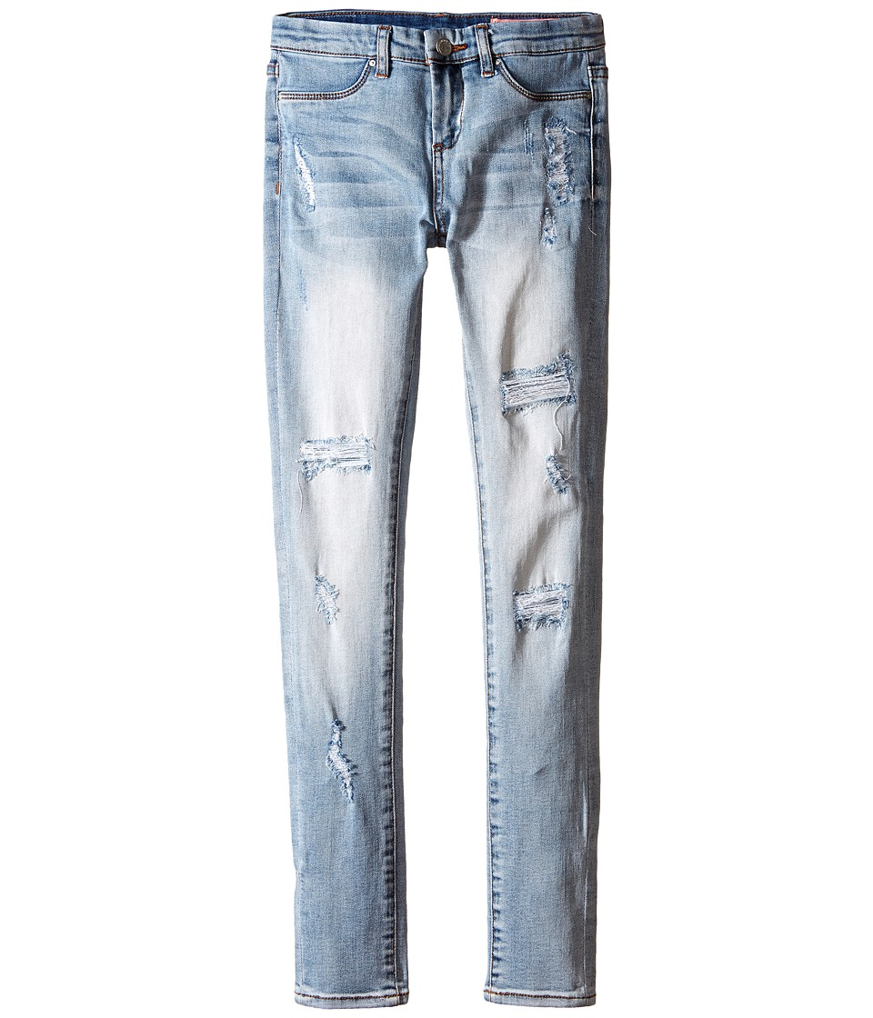 Blank NYC Kids Light Denim Distressed Skinny Jeans in Secret Box Big Kids Blue Girls Jeans