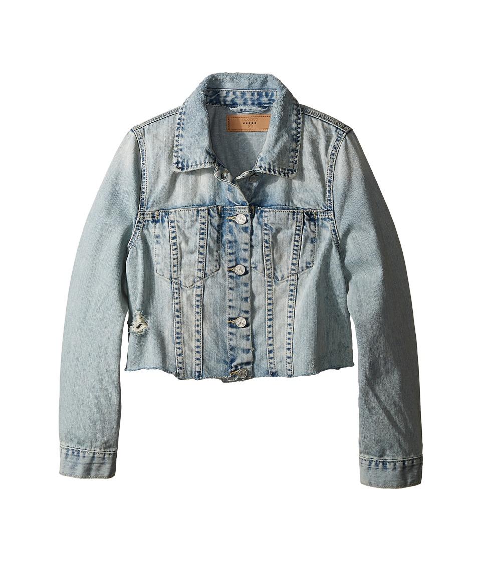 Blank NYC Kids Crop Denim Jacket in Karaoke Big Kids Blue Girls Coat