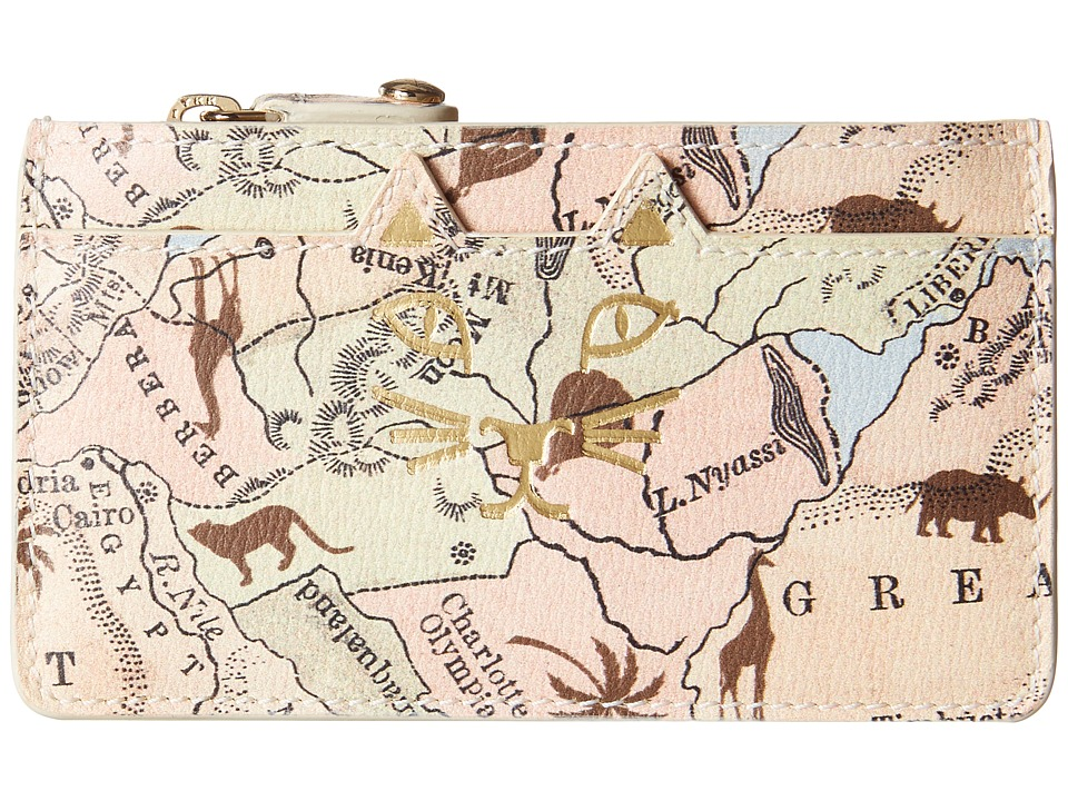 Charlotte Olympia Feline Coin Purse Map Print Wallet Handbags