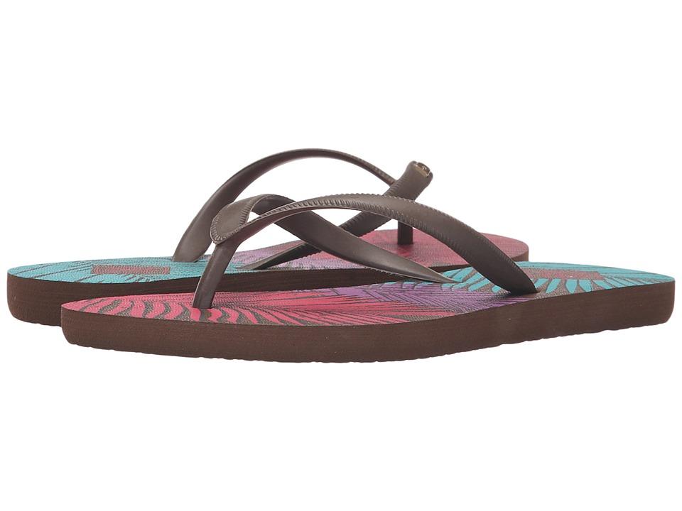 Freewaters Jess Print Brown/Orange/Fuchsia/Blue Womens Shoes