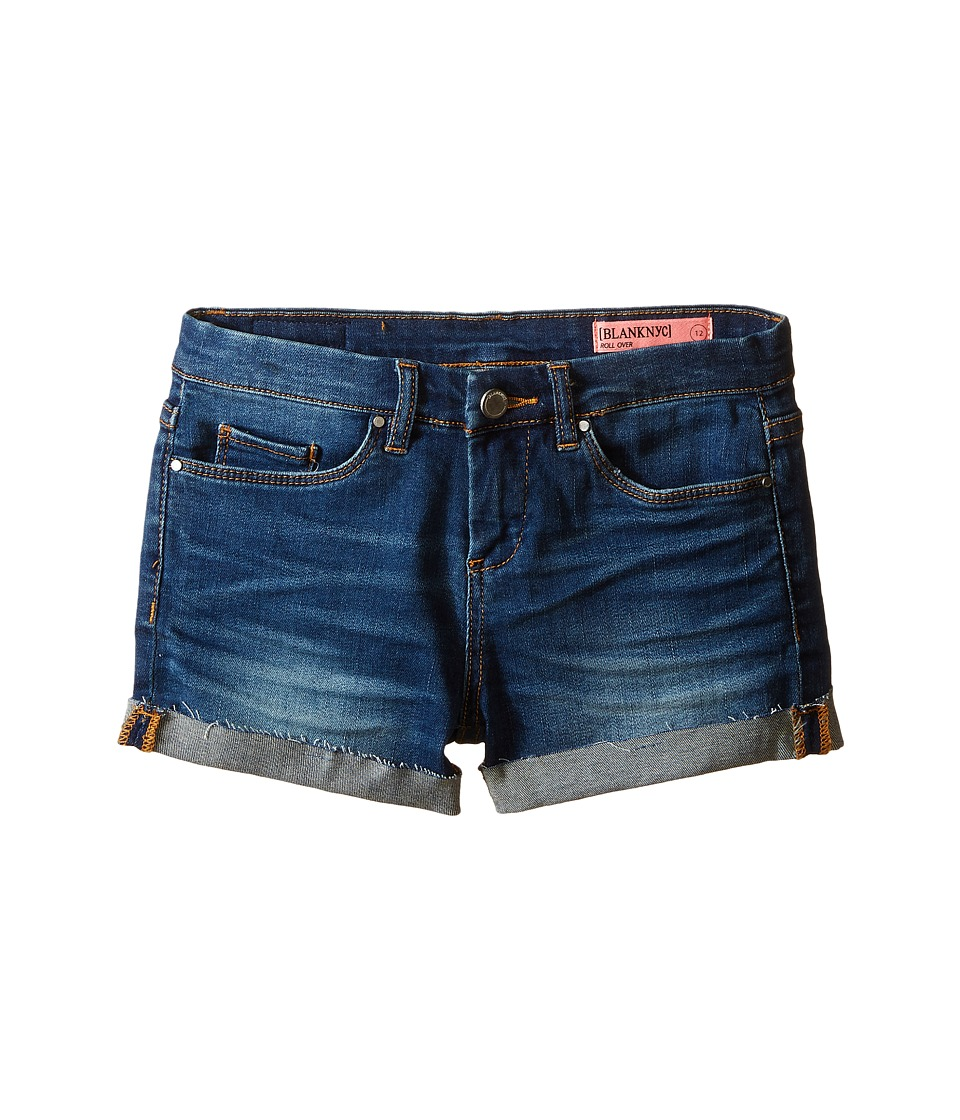 Blank NYC Kids Denim Cuffed Shorts in Recover Big Kids Blue Girls Shorts