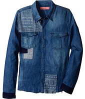 Blank NYC Kids - Patterned Denim Shirt in No Free Ride (Big Kids)
