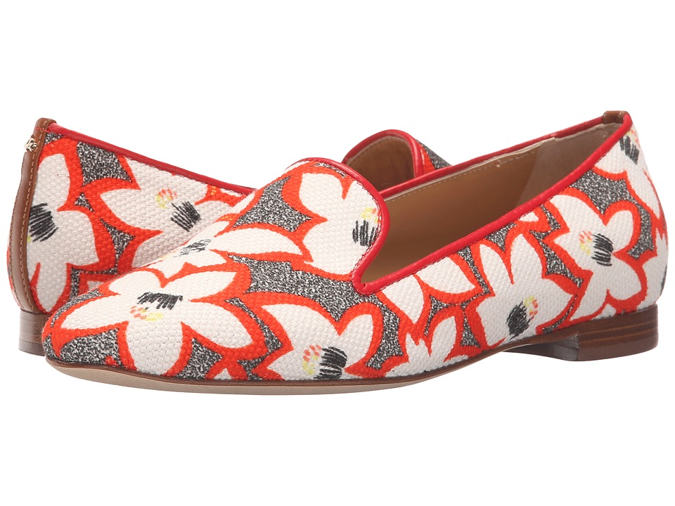 DSQUARED2 Ballerina Canvas Bianco Rosso Womens Shoes