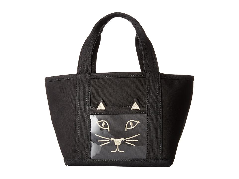 Charlotte Olympia Petit Ami Kitty Small Black Bags