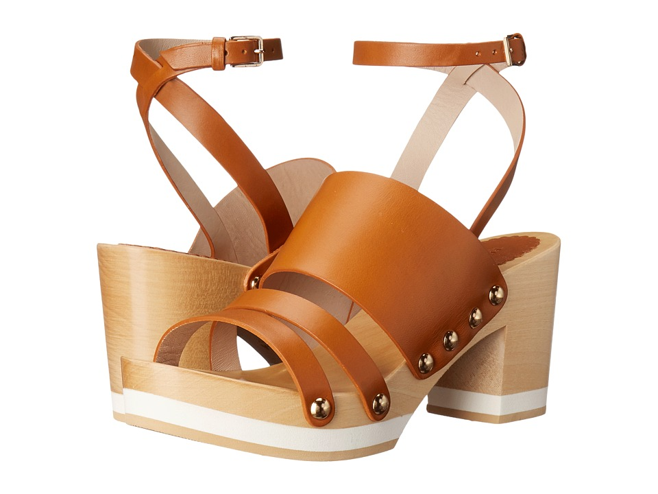Furla Gina Clog 55mm Naturale/Naturale Vachetta/Vachetta Womens Sandals