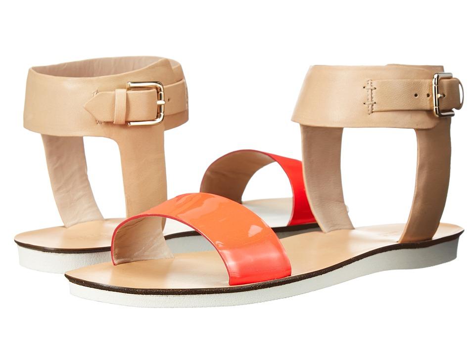 Furla Magia Sandal 5mm Rodonite Fluo/Naturale Vernice Fluo/Vacchetta Womens Sandals