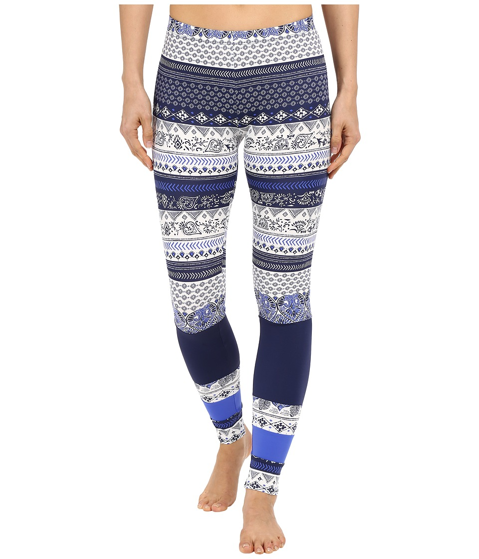 Roxy Essentials Salty Geo Leggings Souk Paisley Swim Combo Sea Spray Womens Swimwear