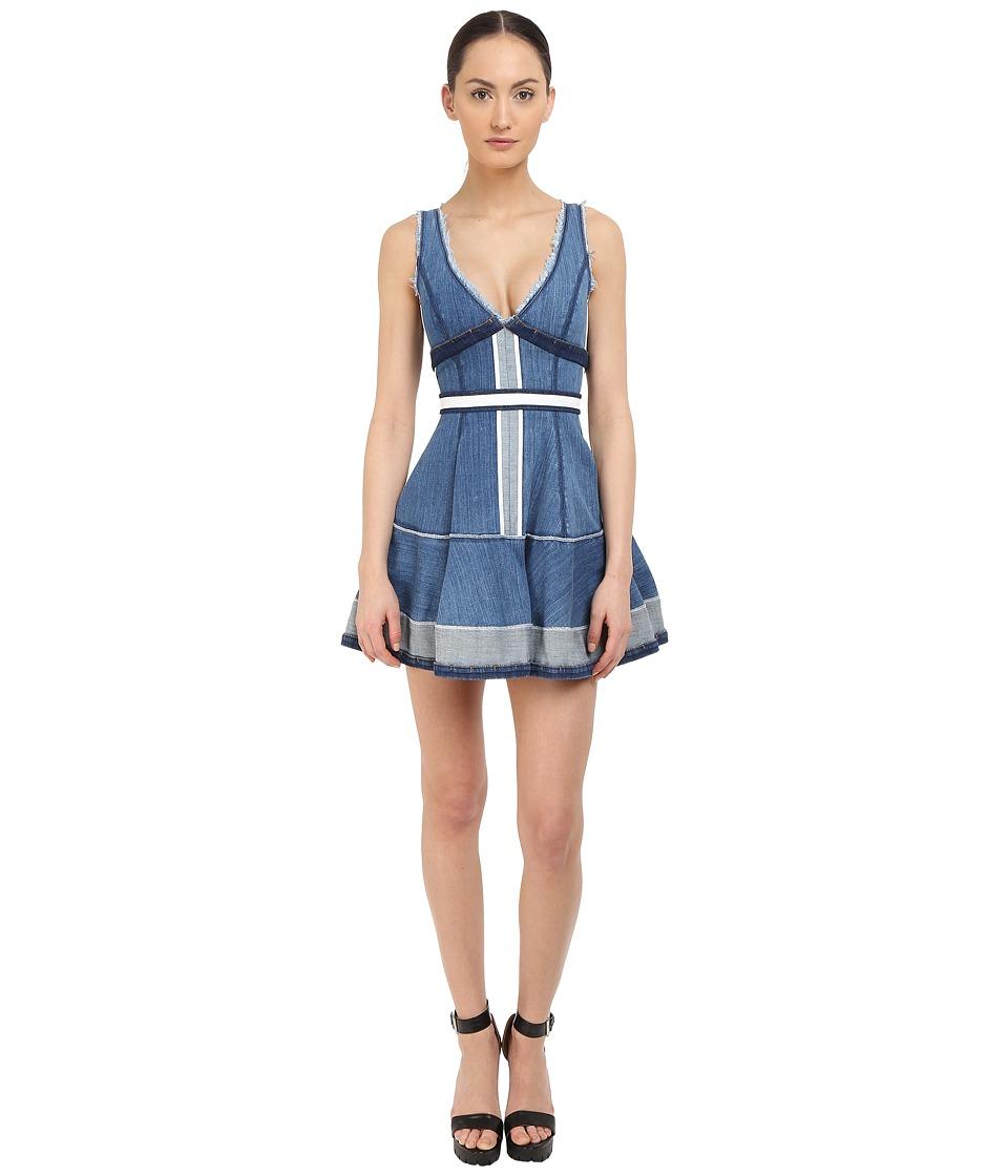 DSQUARED2 Stretch Denim Inside Out Dress Blue Womens Dress
