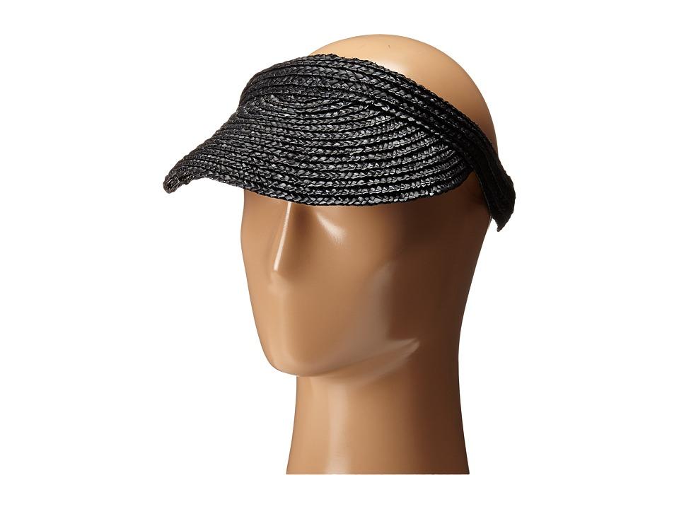 San Diego Hat Company - WSV0004 4 Inch Brim Straw Slip-On Visor (Black) Casual Visor