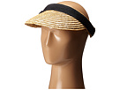 San Diego Hat Company - WSV0005 4 Inch Brim Straw Clip On Visor with Bow