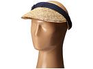 San Diego Hat Company WSV0005 4 Inch Brim Straw Clip On Visor with Bow
