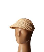 San Diego Hat Company - RHV1503 Raffia Visor with Turqoise Trim