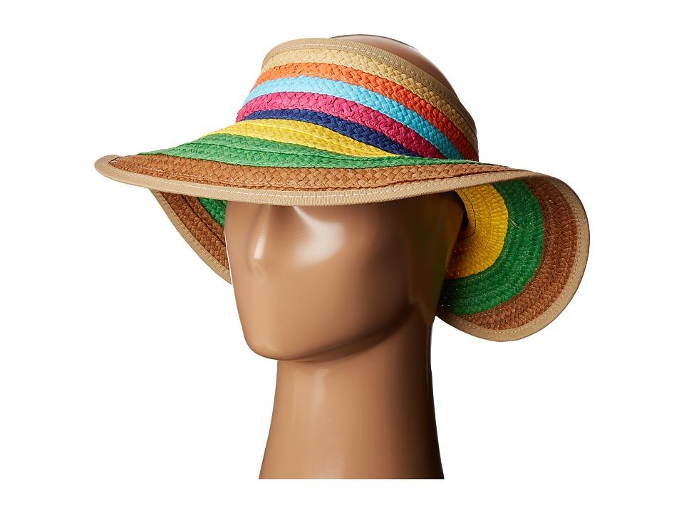 San Diego Hat Company - PBV007 Paper Braid Adjustable Roll Up Visor with Ribbon Edge (Brights) Casual Visor