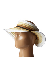 San Diego Hat Company - PBV007 Paper Braid Adjustable Roll Up Visor with Ribbon Edge