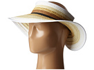 San Diego Hat Company PBV007 Paper Braid Adjustable Roll Up Visor with Ribbon Edge