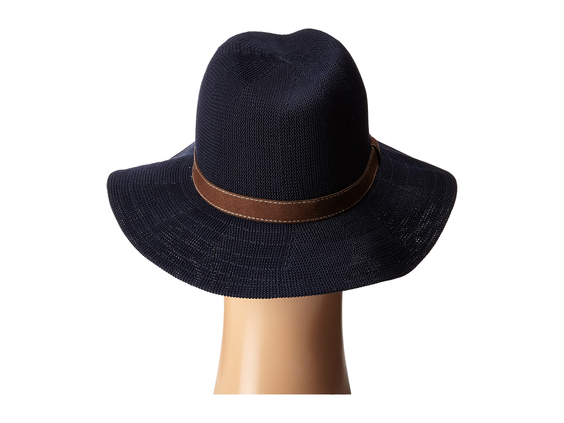 Knitting Pattern Trilby Hat : San Diego Hat Company KNH8011 Knit Fedora Hat with Suede Band - Zappos.com Fr...