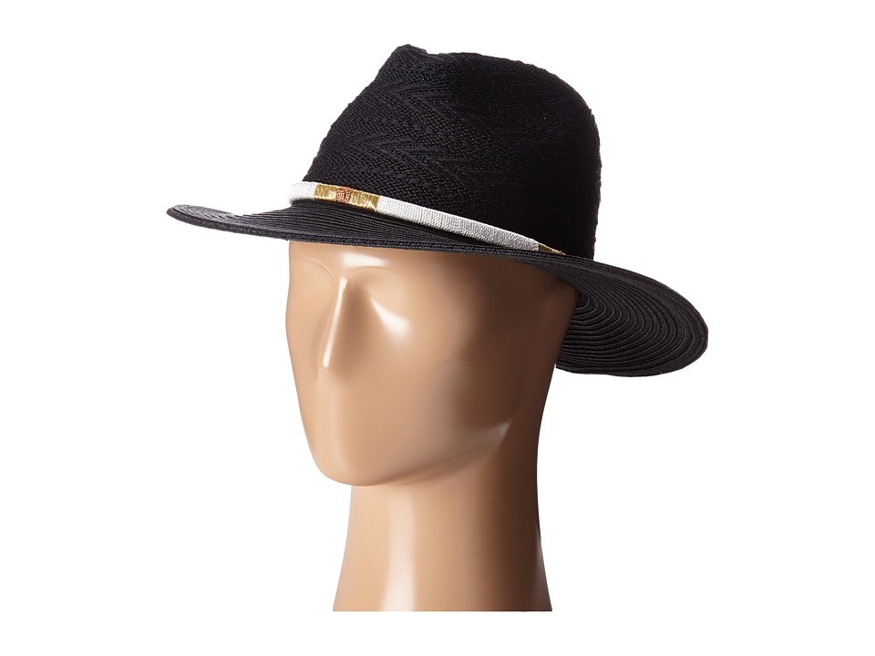 San Diego Hat Company PBF7304 Knit Fedora with Threaded Band Black Fedora Hats