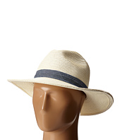 San Diego Hat Company - UBM4457 Panama Fedora Hat with Chambray Band