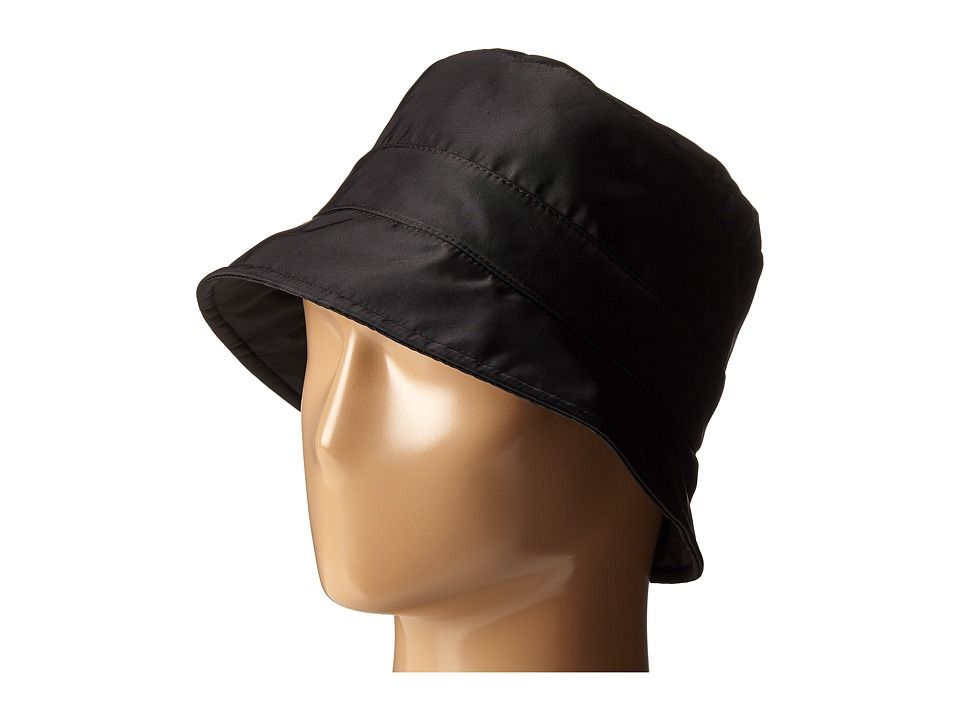 San Diego Hat Company CTH8029 Nylon Rain Bucket Hat Black Bucket Caps