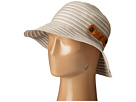 San Diego Hat Company - RBM5557 Ribbon Sun Hat with Braided Fauxe Suede Snap Closure