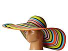 San Diego Hat Company UBX2721 Striped Floppy 8 Inch Brim Sun Hat