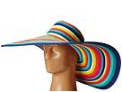 UBX2721 Striped Floppy 8 Inch Brim Sun Hat