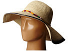 PBL3063 Sun Brim Hat with Hand Dyed Edge and Beaded Trim