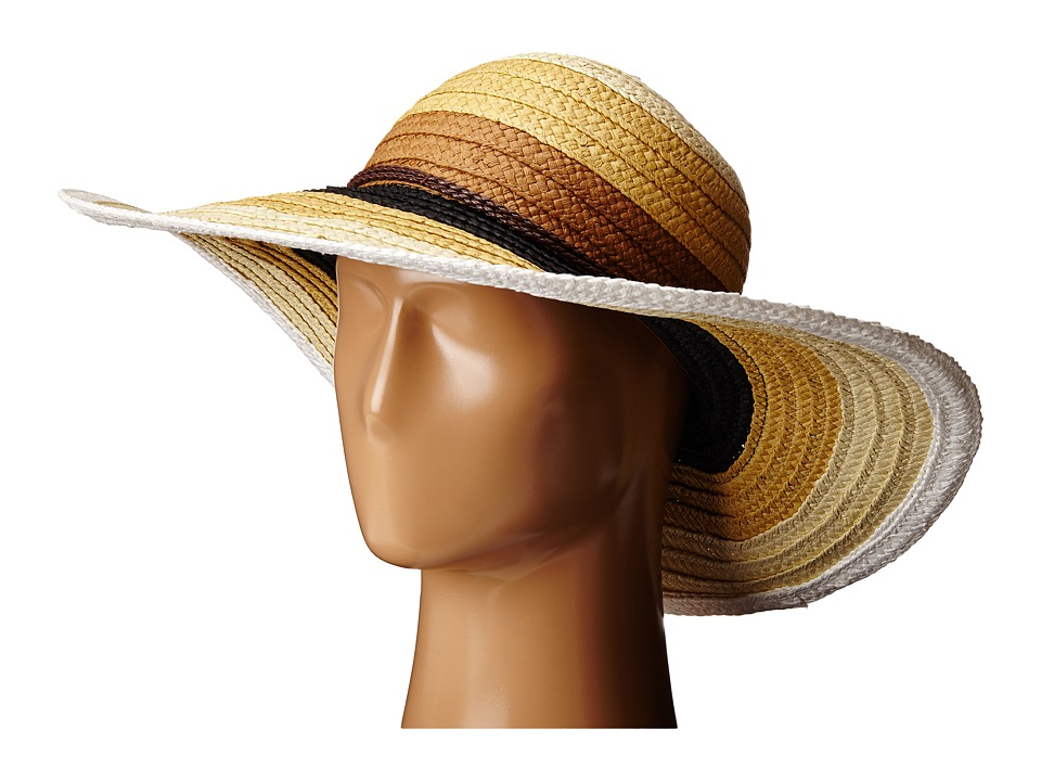 San Diego Hat Company - PBL3071 Striped Sun Brim Hat (Mixed Natural) Caps
