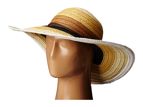 San Diego Hat Company PBL3071 Striped Sun Brim Hat - Mixed Natural