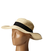 San Diego Hat Company - PBM1027 Fine Weave Boater Hat with Black Ribbon Trim and Bow