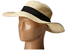 San Diego Hat Company PBM1027 Fine Weave Boater Hat with Black Ribbon Trim and Bow
