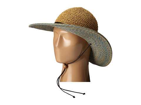 San Diego Hat Company UBL6483 4 Inch Brim Sun Hat with Adjustable Chin Cord - Blue