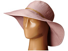 San Diego Hat Company RBL4785 Large Ribbon Brim Hat with Twince Knot Trim
