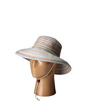 San Diego Hat Company - RHS3107 3 Inch Brim Raffia Kettle Brim Hat with Turqoise Trim