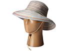 San Diego Hat Company RHS3107 3 Inch Brim Raffia Kettle Brim Hat with Turqoise Trim