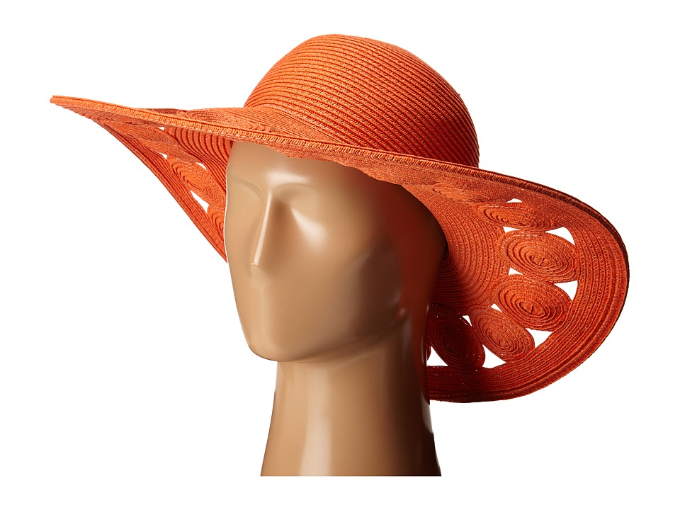 San Diego Hat Company - UBL6481 Ultrabraid Sun Brim Hat with Open Weave Circular Details (Coral) Caps