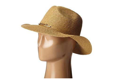 San Diego Hat Company UBM4449 Panama Fedora Hat with Metallic Yarns - Natural/Gold
