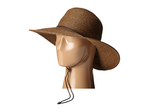 San Diego Hat Company UBM4453 4 Inch Brim Sun Hat with Twisted Adjustable Chin Cord - Brown
