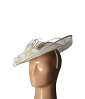 San Diego Hat Company - DRS1008 Oversized Fascinator with Double Bow and Feathers
