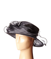 San Diego Hat Company - DRS1004 Organza Dress/Derby Hat with Wired Brim and Rosette Trim